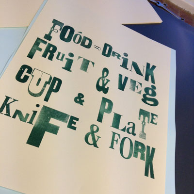 Poster Printing - wood type print mixed typefaces